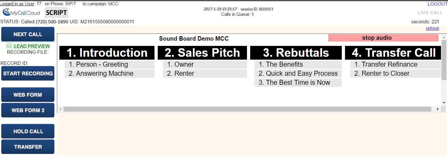 Mycallcloud Releases Soundboarding Solution Mycallcloud Llc