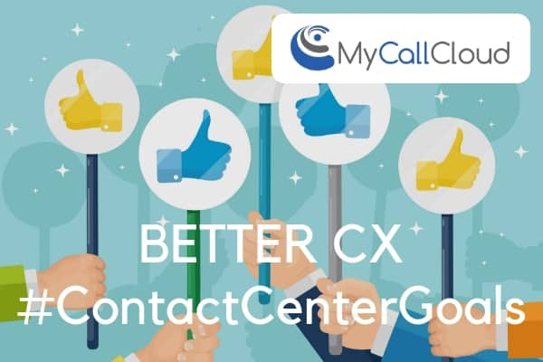 contact center cx thumbs up cartoon